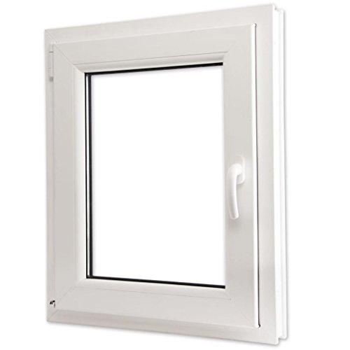 vidaXL Finestra anta ribalta PVC triplo vetro manico a destra 600 x...