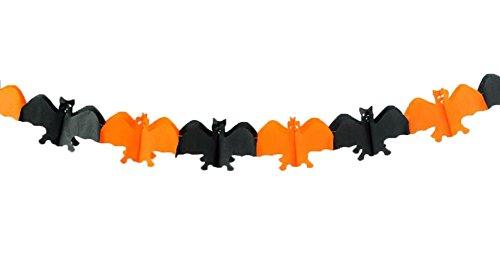 uesae Halloween Banner Wimpelkette Pennant Spider Kürbis Fledermäuse Totenkopf Papier Halloween Dekorationen Maske Kostüm Party Cosplay Karneval Zubehör Make Up Thema Party 3m 6Stück