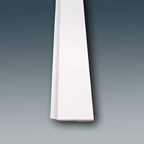 Fensterleiste Flachprofil PVC mit Lippe selbstklebend 30mm breit 10m lang Abdeckleiste