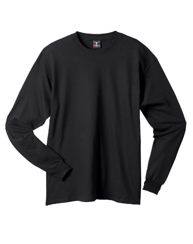 Hanes Beefy-T Langarm-T-Shirt, Erwachsene Schwarz