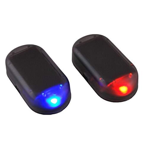 Car Solar simulato allarme di allarme antifurto LED lampeggiante luce di sicurezza Colore: blu