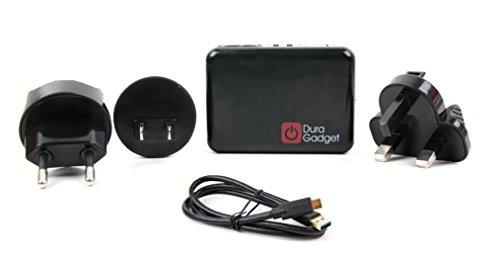 DURAGADGET Reise Ladegerät weltweiter Einsatz und USB-C zu USB-A Kabel für Samsung Galaxy Tab A 8.0 & S Pen (2019) / Galaxy Tab S5e / Galaxy Book 2 Tablets