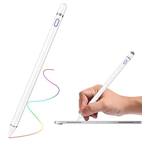 Ridioo Active Stylus Stift, 1,5 mm kapazitiven Stylus Wiederaufladbar Touchstift Kompatibel mit iOS Android Malen und Schreiben Kompatibel mit iPhone XR/XS/XS MAX, iPad, Samsung, Huawei, Tablet