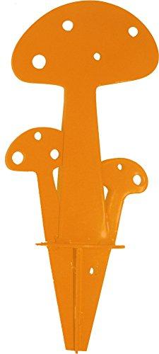 Champignon Orange à planter en métal 15cm IKI déco de jardin