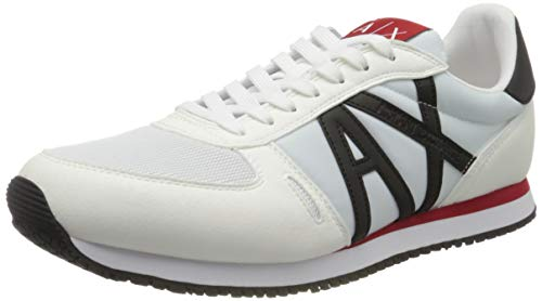 Armani Exchange Herren Sneaker, Weiß (Op.White+Black K488), 43 EU