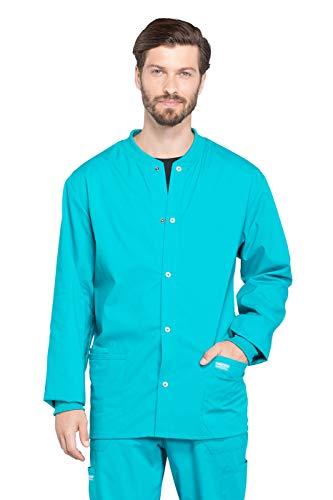 Cherokee Workwear Professionals WW360 Men's Snap Front Warm-Up Scrub Jacket Cherokee Warm-up