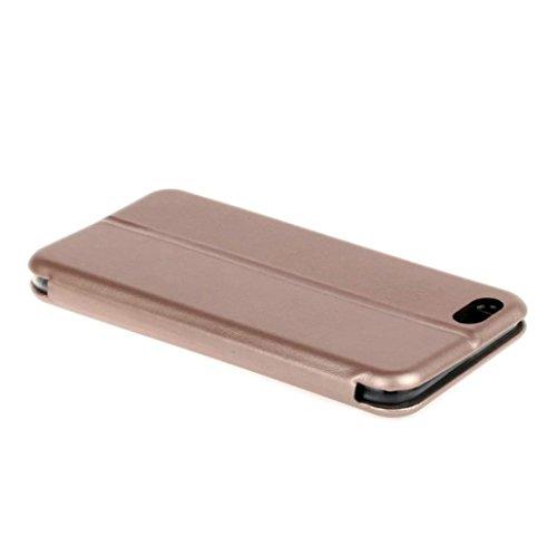 Für Iphone 7 Plus hülle Jamicy® Clamshell Extra dünn Fallschutz Objektivschutz Rutschfest Schutzhülle Leder handyhülle Telefonschale Für Iphone 7 Plus 5.5'' (Schwarz) Rose Gold