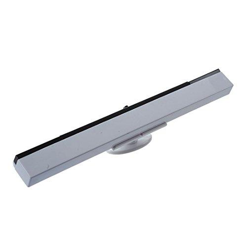 SODIAL (R) de la senal del sensor receptor Wii receptor inalambrico por infrarrojos para Nintendo Blanca