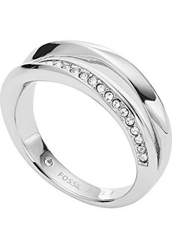 Fossil Damen-Ringe Edelstahl zirkonia \'- Ringgröße 50 JF03019040-5.5
