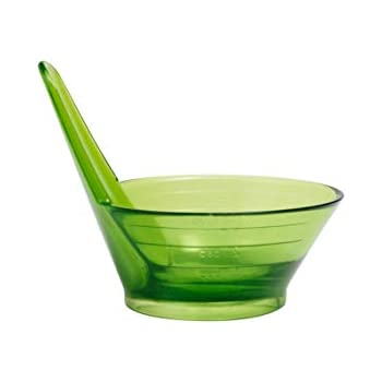 Chef'n Zipstrip Herb Stripping Tool and Measuring Cup, Green, 60 ml