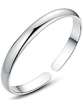 925 Sterlingsilber Armband Armreif Manschette Silber Poliert Herren,Damen