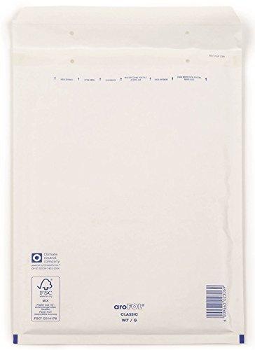 Arofol 2FVAF000107 Luftpolstertaschen Nummer 7, 100 Stück, 230x340 mm, weiß