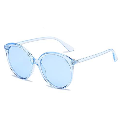WZYMNTYJ Sexy Cat Eye Runde Sonnenbrille Frauen Transparente Rosa Rot Gelb Rahmen Mode Candy Shade UV400 Vintage Marke Gläser