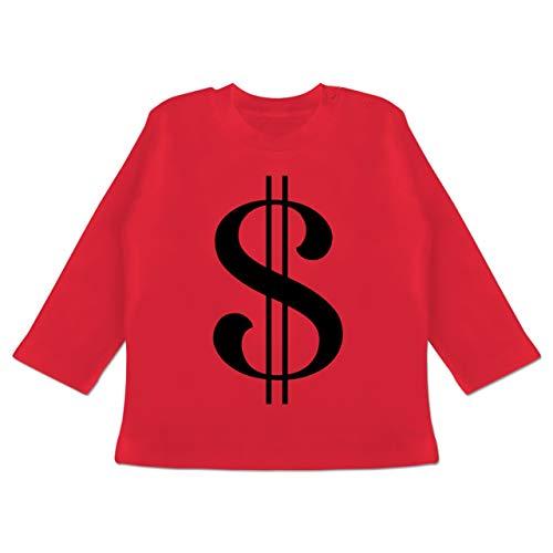 Karneval und Fasching Baby - Dollar Kostüm - 12-18 Monate - Rot - BZ11 - Baby T-Shirt ()