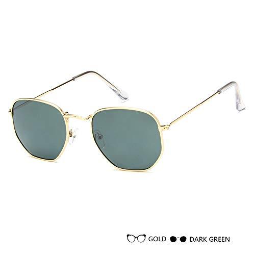 Aprigy - Frauen Sonnenbrillen Herren Brillen Lady Luxus Retro Metall Sonnenbrillen Vintage-Spiegel UV400 oculos de sol [F]
