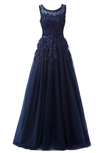Romantic-Fashion Damen Ballkleid Abendkleid Brautkleid Lang Modell E010-E015 Blütenapplikationen...