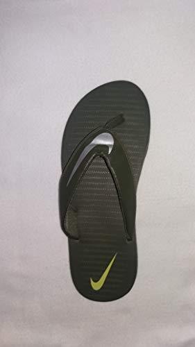 Nike Men's Chroma 5 Black/Chrome Flip Flops Thong Sandals-8 UK (42.5 EU) (9 US) (833808-007-BLACK/CHROME-8)