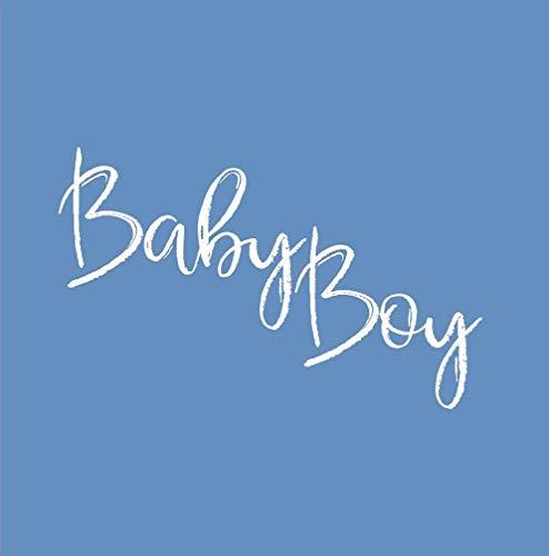 Miss Lovely Gäste-Buch Baby-Party Baby Boy in blau/Baby-Shower-Party/Taufe Junge/Accessoires Baby/Geschenk-Idee Geburt