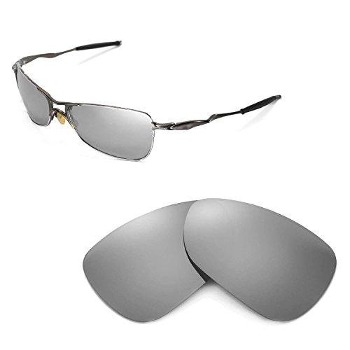 Walleva Ersatzgläser für Oakley Crosshair 1.0 (2005-2006 Version) Sonnenbrille - Mehrfache Optionen (Titanium Mirror Coated - Polarisiert)