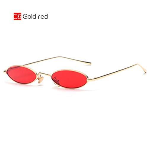 ZHAS High-End-Brillen Sonnenbrillen Männer Kleine Runde Sonnenbrille Shades Für Frauen Metallrahmen Kleine Brillen Weiblich Männlich Personalisierte High-End-Sonnenbrillen C6