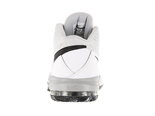 Nike Herren Air Max Emergent Basketballschuhe, 42 EU Weiß / Schwarz / Silber (Weiß / Blck SLVR-Pr-Mtllc Pltnm)