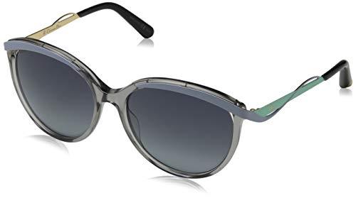Dior Damen DIORMETALEYES1 HD NE4 Sonnenbrille, Grau (Transp Blue Aqua/Grey Shaded), 57