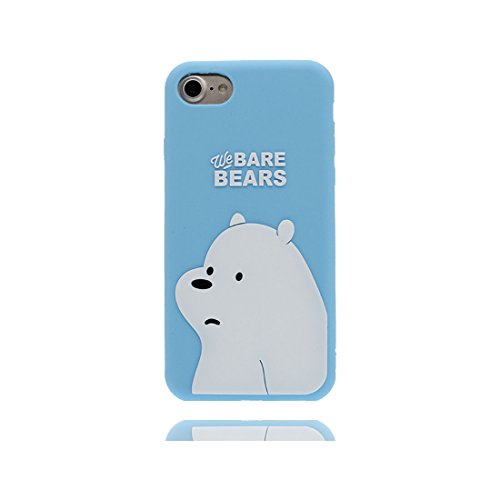 iPhone 7 Plus Custodia, Premium TPU flessibile durevole Apple iPhone 7 Plus Copertura 5.5 Case [Slim] + [Peso leggero] (3D Cartoon Cover Panda) Progettato alla moda blu 2