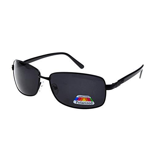 Sonnenbrillen Polarisierte Retro Männer UV-Schutz Coole Sonnenbrille Herren Clip Sunglasses Fliegerbrille Verspiegelt Outdoor Sport Tourismus Schwarze Rahmen Alle Grau Linse