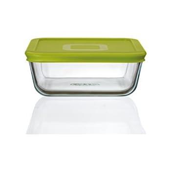 pyrex plat carr 4 en 1 en verre avec couvercle vert 0 85. Black Bedroom Furniture Sets. Home Design Ideas