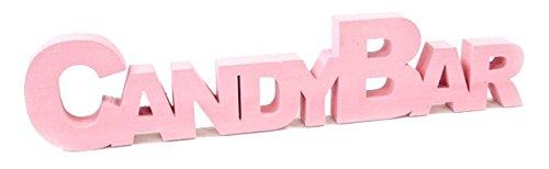 Hobi Mariage: palabra CANDYBAR, 27 cm, color rosa