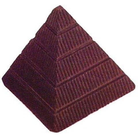 Pirámide de moldes, silicona moldes de chocolate, de policarbonato, transparente, 27,5x 13,5x 2,4cm, 21piezas