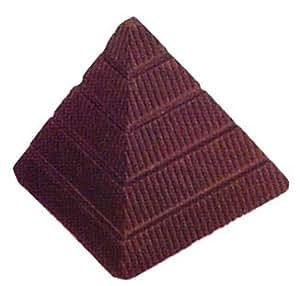 Moule en silicone chocolat Moule Pyramide, en polycarbonate, transparent, 27,5x 13,5x 2,4cm, 21pièces