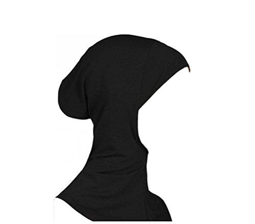 Islamisch Stil Kopftuch Hijab kopftücher Leicht Unter Schal Knochen Bonnet (Schwarz Hals-abdeckung)
