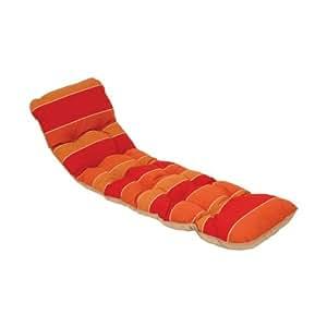 Jardin prive - 941248 - Coussin pour bain de soleil orange