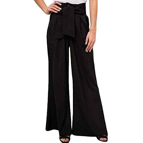 Pantalones Anchos para Mujer Otoño Invierno 2018 Moda PAOLIAN Casual Pantalones Marlene de Vestir...