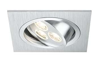 Paulmann 92531Premium encastrable carré à schwb/encastrable lampe Aria. LED 1x 3W 350mA 92x 92mm Aluminium Geb./chrome