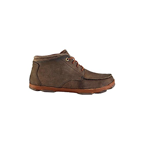OluKai Hamakua Shoe - Men's Dark Wood/Toffee 10.5