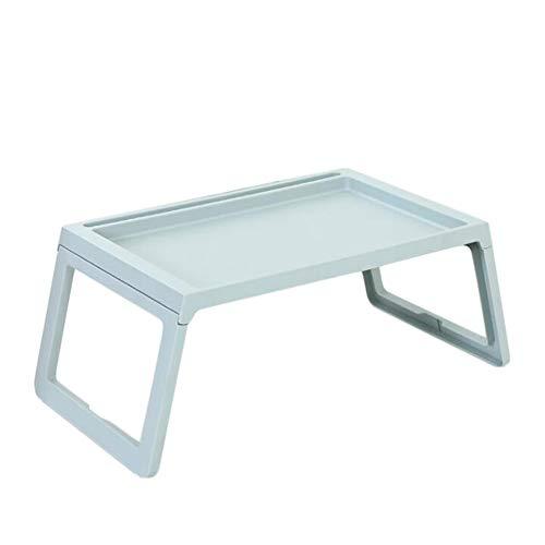 Shamdon Home Collection Laptop-Tablett mit klappbaren Beinen, Knietisch für Sofa, Couch, Boden, Bett, Frühstück, Schreiben, 55 x 36 cm blau