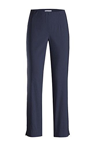 Stehmann - Stretchhose INA 740 - VIELE Farben - Mit EXTRA-Fashion Armreif -Gerade geschnittene Pull-On Hose mit Schlitz, Hosengröße:46, Farbe:Marine - dunkelblau