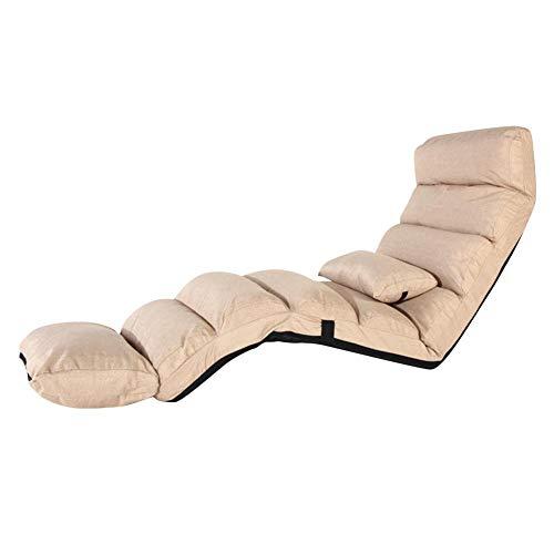 LiféUP Sofá para Persona Perezosa Sofá Individual Sillón de Salón de Estilo Japonés Silla de Sofá Tatami Silla Plegable