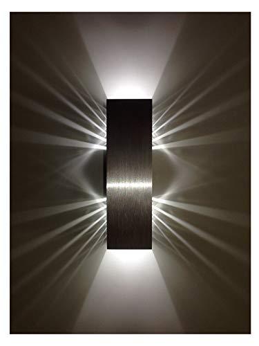 SpiceLED Wandleuchte | ShineLED-6 | 2x3W Weiß | Schatteneffekt | High-Power LED Wandlampe dimmbar | Alu gebürstet
