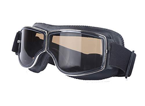 Daesar Brille Winddicht Unisex Schwarz Schwarz Arbeitsbrille für Brillenträger Motorradbrille Motocross