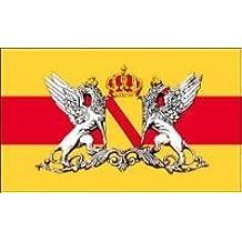 Großherzogtums-Flagge Fahne Großherzogtum Baden Flagge ca 90 x 150 cm