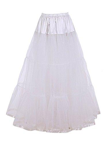DaisyFormals 1950's Knöchellänge Vintage Rockabilly Petticoat Retro Ballett Tutu Reifrock Unterrock Underskirt- (Slip Kostüme Krinoline Petticoat)