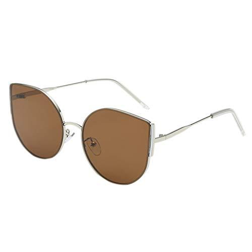 FBGood Sonnenbrille Unisex Vintage Retro Shaded Lens Mode Ultra Leicht Pilotenbrille Fashion Women Sunglasses Aviator Sonnenbrille Cool für den Sommer Damenbrillen Eyewear (Braun)