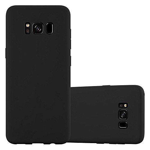 Preisvergleich Produktbild Cadorabo Hülle für Samsung Galaxy S8 Plus - Hülle in Candy SCHWARZ – Handyhülle aus TPU Silikon im Candy Design - Silikonhülle Schutzhülle Ultra Slim Soft Back Cover Case Bumper