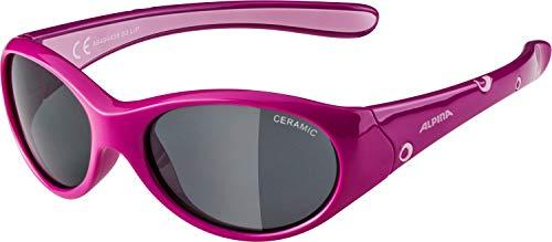 ALPINA Mädchen Sonnenbrille Line FLEXXY, pink-Rose, One Size