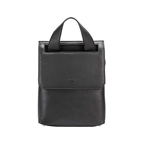 Voi Rucksack Jocy 21546 aus hochwertigen Nappaleder in verschiedenen Farben H33,5 x B25 x T7 cm, Farbe:schwarz