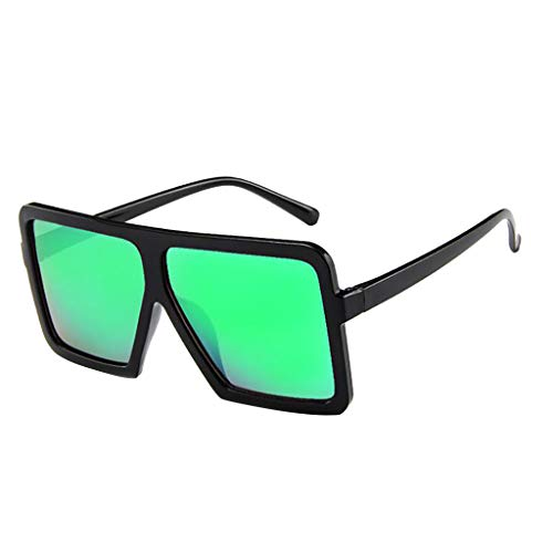 Hniunew Oversized Übergroße Dame Sonnenbrille Integrierte BrilleTrapez Sonnenbrillen große Damen Retro Frame Sonnenbrille Trend Square Sonnenbrillen Classic Gradient Retro Brille Frauen