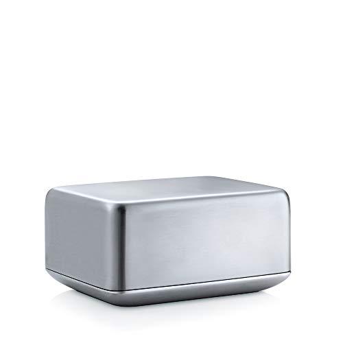 Blomus 63638 Basic-Beurrier Moyen Format, Acier Inoxydable, Gris, 12 x 9,7 x 5,8 cm